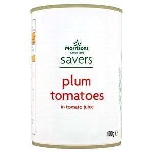 Morrisons Savers Plum Tomatoes in Tomato Juice
